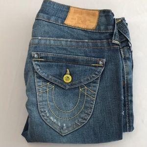 TRUE RELIGION Sz 27 Boot Cut Jeans